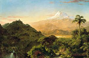 Фото Картина Горы Frederic Edwin Church, South American Landscape Природа