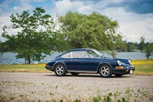 Картинки Porsche Старинные Синий 1972-73 911 S 2.4 Coupe Машины
