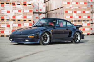 Фотография Порше Винтаж Синий 1986-89 911 Turbo 3.3 Coupe SE  Flachbau  Worldwide машина