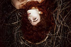 Картинки Рыжая Волосы Девушки