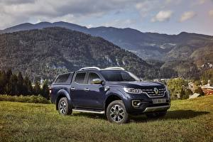 Картинка Renault Синие Металлик 2017 Alaskan Worldwide Автомобили