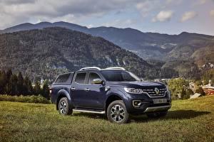 Картинка Renault Синие Металлик 2017 Alaskan Worldwide Автомобили