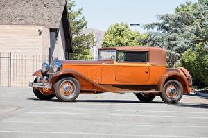 Обои Ретро Оранжевый Металлик Сбоку 1930 Packard Deluxe Eight Convertible Victoria by Maurice Proux Авто
