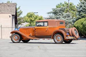 Фотографии Винтаж Оранжевый Металлик Сбоку 1930 Packard Deluxe Eight Convertible Victoria by Maurice Proux Авто