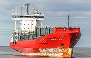 Обои Корабли Контейнеровоз Красный Annabella S