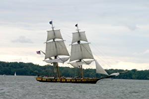 Фотографии Корабли Парусные Море