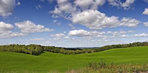 Фото Небо Луга США Облака Wisconsin Природа