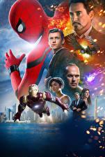 Обои Человек паук герой Железный человек герой Человек-паук: Возвращение домой