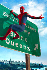 Картинки Человек паук герой Человек-паук: Возвращение домой Фильмы