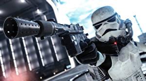 Фотография Star Wars Battlefront 2015 Пистолет Клоны солдаты Игры