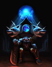 Фотография Сверхъестественные существа Трон Мечи Сидящие
