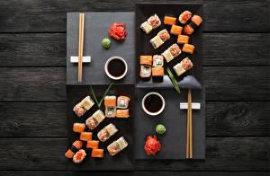 Фото Суши Палочки для еды Продукты питания