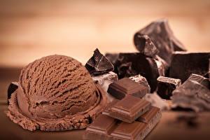 Фотография Сладости Мороженое Шоколад Шарики Продукты питания