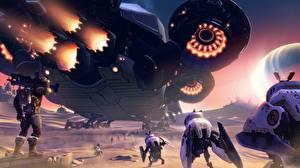 Фотографии Фантастическая Battleborn Робот Игры 3D_Графика Фэнтези