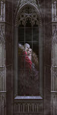Фотография Вампиры Мужчины Готические Окно 2 Девушки