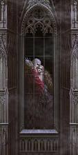 Фотография Вампиры Мужчины Готика Фэнтези Окна 2 Фэнтези Девушки