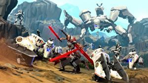 Картинки Воители Battleborn Робот Игры 3D_Графика