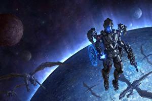 Картинки Воители Драконы Планеты Chris Fox, Planet Strider Фантастика Космос