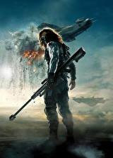 Фотография Воители Снайперская винтовка Маски Первый мститель: Другая война Bucky Mask Кино