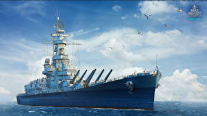 Фотография World Of Warship Корабли Американские Alabama Игры
