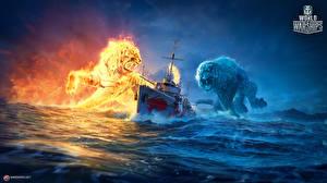 Обои World Of Warship Корабли Тигры Игры