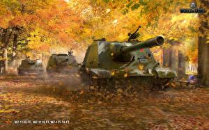 Фотографии World of Tanks Самоходка Осенние Китайские WZ-113G FT, WZ-111G FT, WZ-111-1G