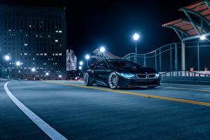 Обои BMW Ночь Черный Aristo, i8 Авто