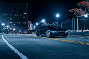 Обои BMW Ночь Черная Aristo, i8 авто