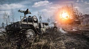 Картинки Battlefield 1 Боевая техника Взрывы Грязь Игры