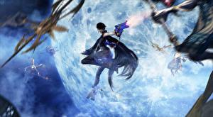 Фотография Bayonetta Стрельба Umbra Witches Игры Девушки Фэнтези