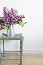 Картинки Букеты Сирень Кувшин Цветы