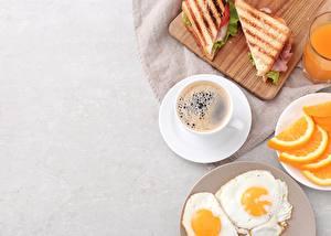 Фото Кофе Сэндвич Яичница Завтрак Чашка