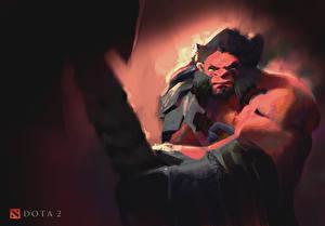 Картинки DOTA 2 Воины Axe С топором компьютерная игра Фэнтези