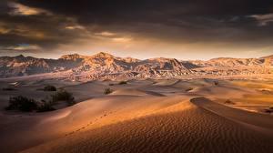 Картинки Пустыни США Калифорния Death Valley Природа