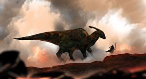 Фото Динозавры Воины Фэнтези