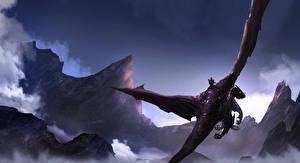 Картинки Драконы Летящий