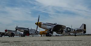 Картинки Самолеты Истребители Американские P-51D Авиация