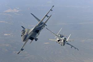 Картинка Самолеты Истребители Су-30 Русские Летящий MKI, The Indian air force Авиация