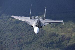 Картинка Самолеты Истребители Су-30 Полет SM Авиация