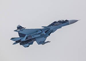 Фотографии Самолеты Истребители Су-30 Летят SM