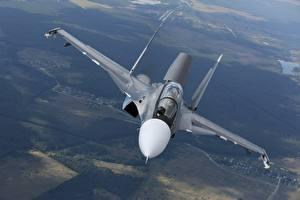 Фото Самолеты Истребители Су-30 Российские Летящий SM Авиация
