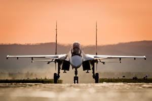 Фотография Самолеты Истребители Су-30 Российские Спереди SM Авиация