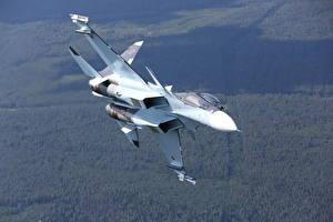 Фотография Самолеты Истребители Су-30 Российские Su-30SM Авиация