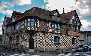Картинка Франция Дома Улица Дизайн Pont-Audemer Normandy Города