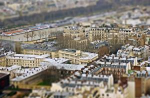 Картинка Франция Париже Крыше Сверху Quartier Gaillon город