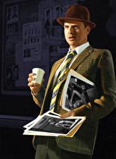 Картинки L.A. Noire Мужчины Шляпы Костюме Игры
