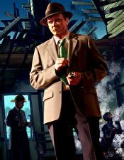 Фотографии L.A. Noire Мужчины Шляпы Костюма компьютерная игра