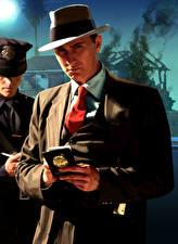 Фотография L.A. Noire Мужчины Полицейская Шляпы Классический костюм компьютерная игра