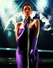 Картинка L.A. Noire Микрофон Платье Девушки