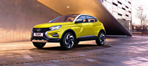 Картинка Лада Желтый 2016 XCODE Concept Автомобили